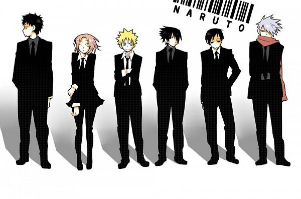 Tags: Anime, Katsuko, NARUTO, Sai, Uchiha Sasuke, Uzumaki Naruto, Haruno Sakura, Yamato (NARUTO), Hatake Kakashi, Barcode, Fanart, Pixiv, Team 7