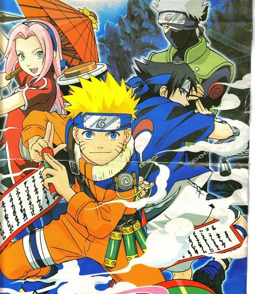 Tags: Anime, NARUTO, Hatake Kakashi, Uchiha Sasuke, Uzumaki Naruto, Haruno Sakura, Official Art, Team 7, Jinchuuriki