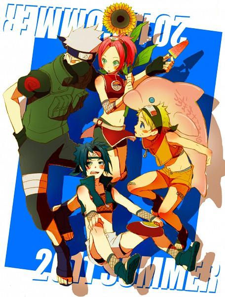 Tags: Anime, Yuhka, NARUTO, Haruno Sakura, Hatake Kakashi, Uchiha Sasuke, Uzumaki Naruto, Pixiv, Fanart, Jinchuuriki, Team 7