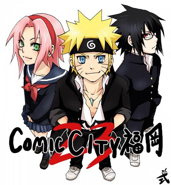 Tags: Anime, Pixiv Id 467723, NARUTO, Uchiha Sasuke, Uzumaki Naruto, Haruno Sakura, Pixiv, Fanart, Team 7, Jinchuuriki