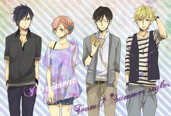 Tags: Anime, Aono Cmns, NARUTO, Sai, Uchiha Sasuke, Uzumaki Naruto, Haruno Sakura, Pixiv, Fanart, Jinchuuriki, Team 7
