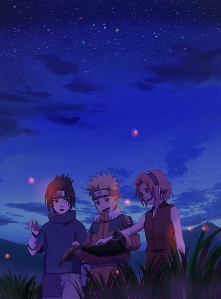 Tags: Anime, Ny, NARUTO, Haruno Sakura, Uchiha Sasuke, Uzumaki Naruto, Fireflies, Pixiv, Fanart, Team 7