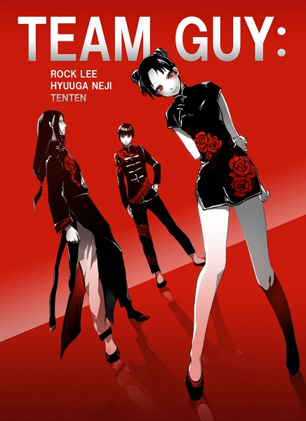Tags: Anime, Iyutani, NARUTO, Rock Lee, Tenten, Hyuuga Neji, Pixiv, Fanart From Pixiv, PNG Conversion, Mobile Wallpaper, Fanart, Team 9