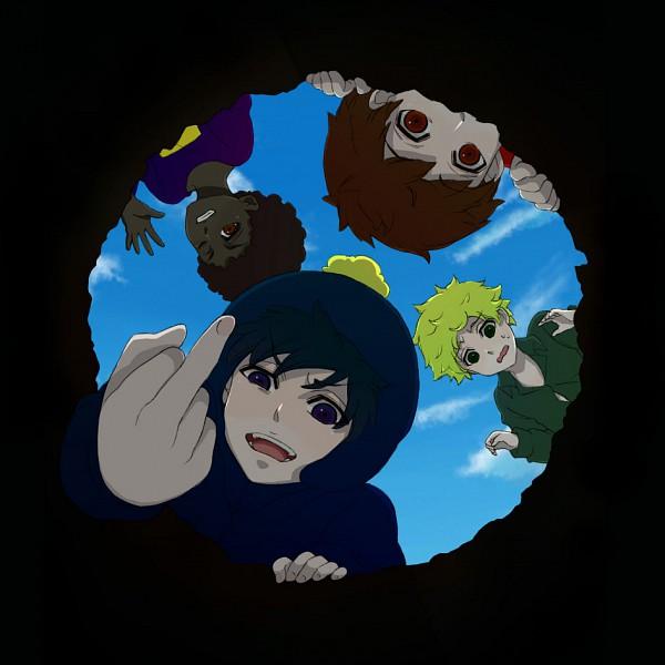 Tags: Anime, South Park, Clyde Donovan, Token Williams, Craig Tucker, Tweek Tweak, Hole, Artist Request, Team Craig