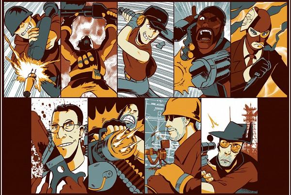 Tags: Anime, Team Fortress 2, Engineer, Soldier (Tf2), Medic (Tf2), Sniper (Tf2), Scout (Tf2), Spy (Tf2), Pyro (Tf2), Demoman, Demoman (Tf2), Grenade Launcher, Grenade