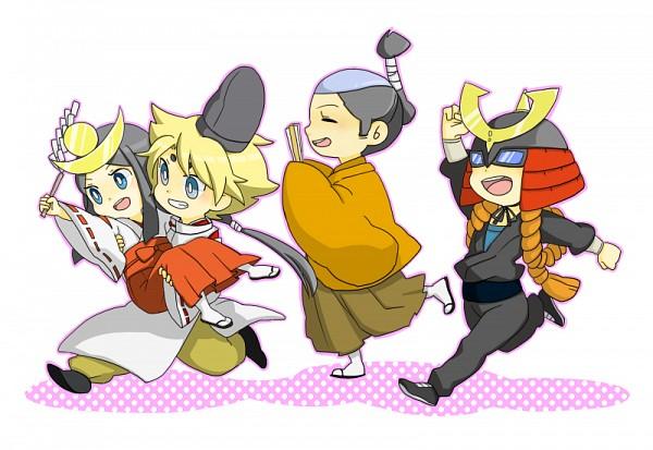 Tags: Anime, Pixiv Id 3868457, Cardfight!! Vanguard, Miwa Taishi, Ninja Master M, Izaki Yuuta (Gekokujou), Morikawa Katsumi, Miwa Dainagon Taishi, Izaki Yuuta, Sendou Emi, Princess Maiden, Pixiv, Fanart