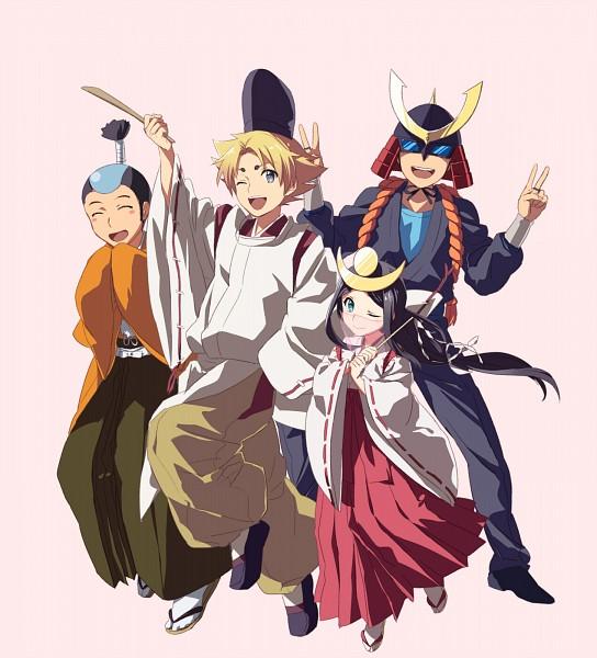 Tags: Anime, Pixiv Id 10660, Cardfight!! Vanguard, Izaki Yuuta, Princess Maiden, Sendou Emi, Ninja Master M, Miwa Taishi, Izaki Yuuta (Gekokujou), Miwa Dainagon Taishi, Morikawa Katsumi, Pixiv, Fanart