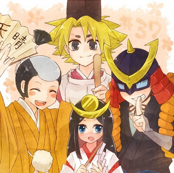 Tags: Anime, Tora (Pixiv 166748), Cardfight!! Vanguard, Miwa Dainagon Taishi, Izaki Yuuta, Sendou Emi, Princess Maiden, Miwa Taishi, Ninja Master M, Izaki Yuuta (Gekokujou), Morikawa Katsumi, Pixiv, Fanart