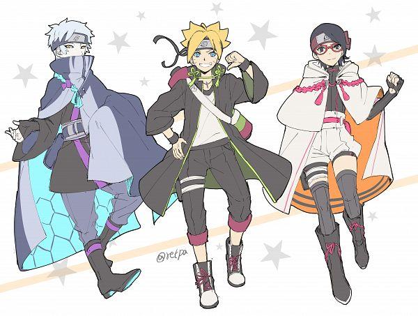 Tags: Anime, Retpa, BORUTO, NARUTO, Uzumaki Boruto, Uchiha Sarada, Mitsuki (NARUTO), Fanart, Fanart From Pixiv, Pixiv, Team Konohamaru