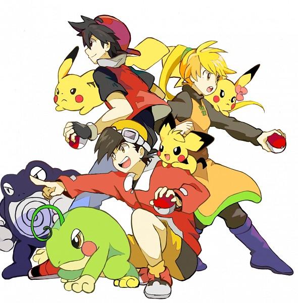 Tags: Anime, Kuroneko (Pixiv1000121), Pokémon SPECIAL, Pokémon, Pichu, Gold (Pokémon SPECIAL), Politoed, Yellow (Pokémon Special), Poliwag, Red (Pokémon SPECIAL), Fanart, Fanart From Pixiv, Pixiv