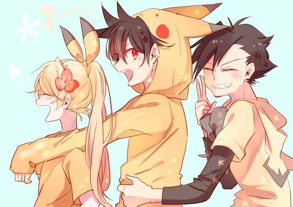 Tags: Anime, Kohiro, Pokémon SPECIAL, Pokémon, Gold (Pokémon SPECIAL), Yellow (Pokémon Special), Red (Pokémon SPECIAL), Pikachu (Cosplay), Pokémon (Cosplay), Pichu (Cosplay), Fanart, Pixiv, Fanart From Pixiv