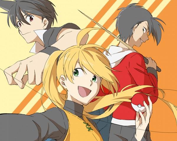 Tags: Anime, Kukuho, Pokémon SPECIAL, Pokémon, Yellow (Pokémon Special), Red (Pokémon SPECIAL), Gold (Pokémon SPECIAL), Pixiv, Fanart From Pixiv, Fanart, Team Lightning