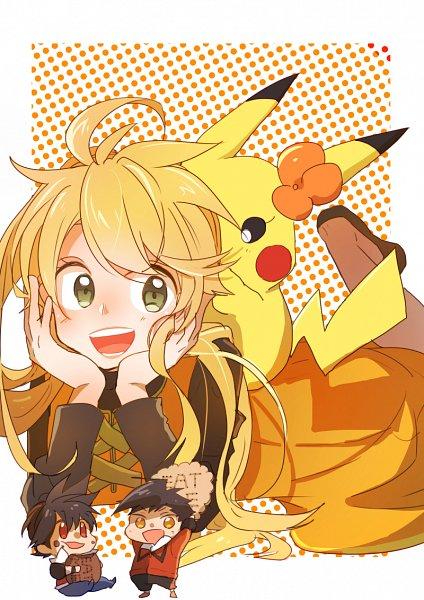 Tags: Anime, Kohiro, Pokémon SPECIAL, Pokémon, Yellow (Pokémon Special), Gold (Pokémon SPECIAL), Pikachu, Chuchu (Pokémon), Red (Pokémon SPECIAL), Fanart, Pixiv, Fanart From Pixiv, Team Lightning