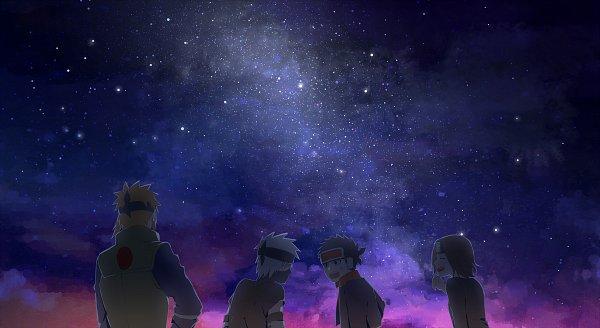 Tags: Anime, Pixiv Id 13890612, NARUTO, Hatake Kakashi, Uchiha Obito, Nohara Rin, Namikaze Minato, Pixiv, Team Minato