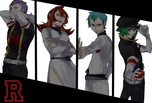 Tags: Anime, Pixiv Id 1548400, Pokémon, Apollo (Pokémon), Athena (Pokémon), Lambda (Pokémon), Lance (Pokémon), Pixiv, Team Rocket