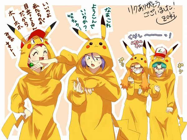 Tags: Anime, Pixiv Id 713166, Pokémon, Musashi (Pokémon), Yamato (Pokémon), Kojirou (Pokémon), Kosaburou (Pokémon), Pikachu (Cosplay), Pokémon (Cosplay), Kigurumi, Translation Request, Fanart, Team Rocket