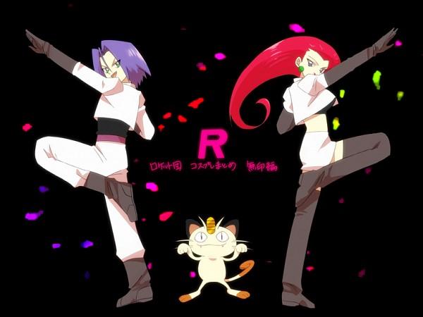 Tags: Anime, Pixiv Id 713166, Pokémon, Kojirou (Pokémon), Musashi (Pokémon), Meowth, Team Rocket