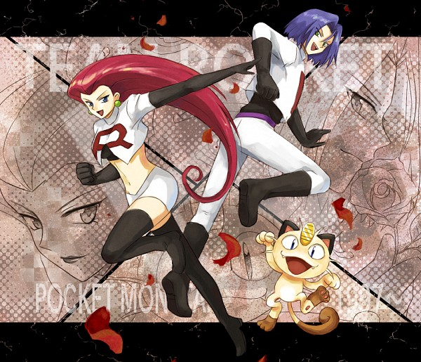 Tags: Anime, Usao (313131), Pokémon, Kojirou (Pokémon), Musashi (Pokémon), Meowth, Text: Character Group Name, Team Rocket