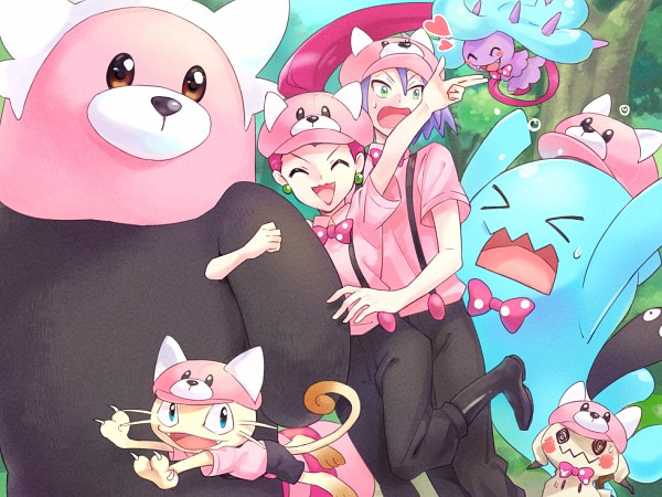Tags: Anime, Rikovui, Pokémon (Anime), Pokémon, Mimikyu, Wobbuffet, Kojirou (Pokémon), Mareanie, Musashi (Pokémon), Meowth, Bewear, Spotted Bow, Bewear (Cosplay)