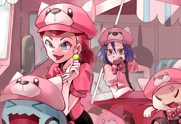 Tags: Anime, Pixiv Id 2838035, Pokémon (Anime), Pokémon, Musashi (Pokémon), Meowth, Wobbuffet, Bewear, Kojirou (Pokémon), Pokémon (Cosplay), Bewear (Cosplay), Fanart, Fanart From Pixiv