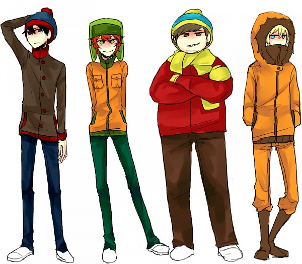Tags: Anime, Sujk0823, South Park, Kyle Broflovski, Kenneth McCormick, Stanley Randall Marsh, Eric Theodore Cartman, Team Stan