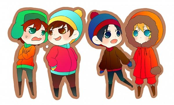 Tags: Anime, South Park, Kyle Broflovski, Kenneth McCormick, Stanley Randall Marsh, Eric Theodore Cartman, Team Stan
