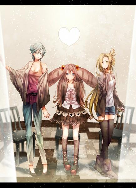 Tags: Anime, Pixiv Id 4248855, Cardfight!! Vanguard, Tatsunagi Kourin, Tatsunagi Suiko, Tatsunagi Rekka, Pixiv, Fanart, Fanart From Pixiv, Team Ultra Rare