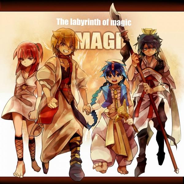 Tags: Anime, Pixiv Id 534010, MAGI: The Labyrinth of Magic, Ali Baba Saluja, Aladdin (Magi), Ren Hakuryuu, Morgiana, Recorder, Team Zagan