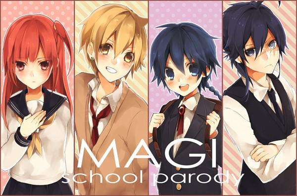 Tags: Anime, Pixiv Id 4530056, MAGI: The Labyrinth of Magic, Ren Hakuryuu, Morgiana, Ali Baba Saluja, Aladdin (Magi), Fanart From Pixiv, Pixiv, Fanart, Team Zagan