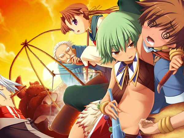 Tags: Anime, Leaf (Studio), Tears to Tiara, Arthur (Tears to Tiara), Morgan, Riannon, Arawn, CG Art