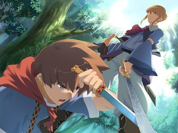 Tags: Anime, Leaf (Studio), Tears to Tiara, Arthur (Tears to Tiara), Taliesin, CG Art