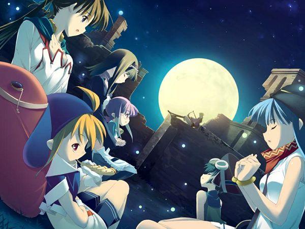 Tags: Anime, Leaf (Studio), Tears to Tiara, Llyr, Riannon, Epona, Taliesin, CG Art