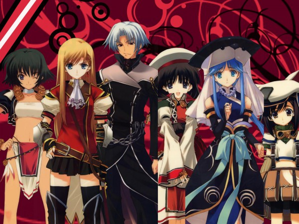 Tags: Anime, Leaf (Studio), Tears to Tiara, Rathty, Octavia, Morgan, Llyr, Riannon, Arawn, Goggles Around Neck