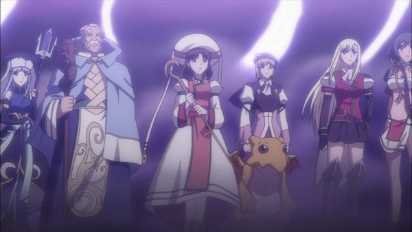 Tags: Anime, Leaf (Studio), Tears to Tiara, Morgan, Llyr, Riannon, Octavia, Taliesin, Screenshot