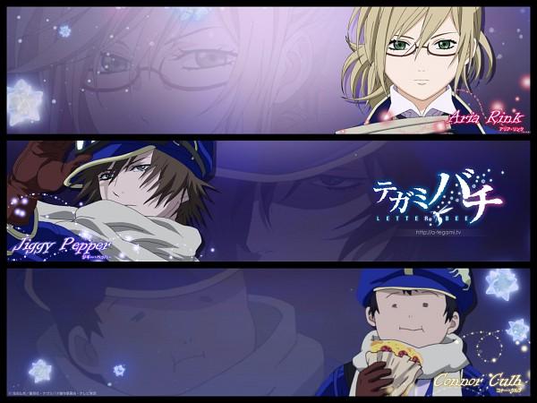Tags: Anime, Shiba Minako, Tegami Bachi, Connor Kluff, Aria Link, Jiggy Pepper, Wallpaper, Letter Bee