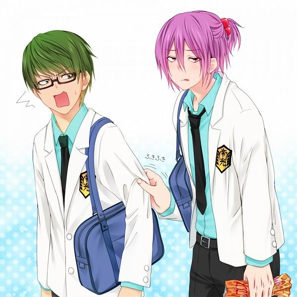 Tags: Anime, Koriina, Kuroko no Basuke, Murasakibara Atsushi, Midorima Shintarou, Kiseki no Sedai, Teikou Middle School