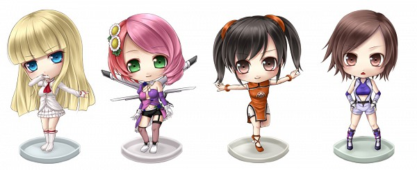 Tags: Anime, Mochi.F, Tekken, Emilie de Rochefort, Kazama Asuka, Ling Xiaoyu, Alisa Boskonovich, Facebook Cover