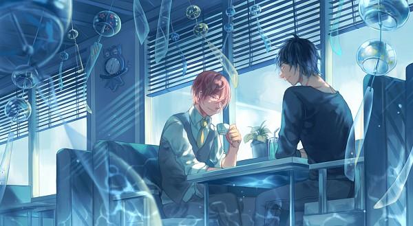 Tags: Anime, Pixiv Id 1457266, Ten Count, Riku Kurose, Shirotani Tadaomi, Window Blinds, Fanart, Fanart From Pixiv, Pixiv