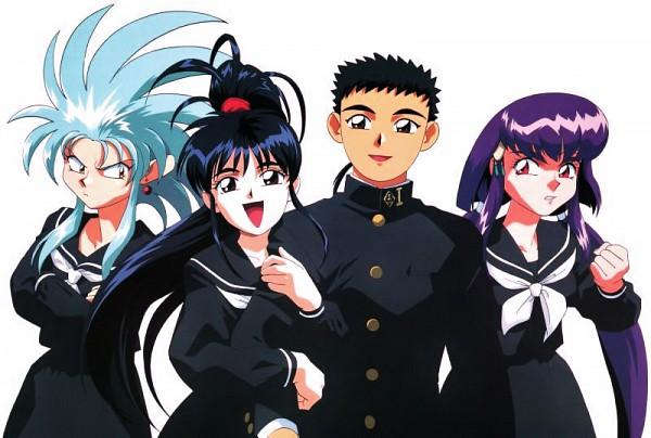 Tags: Anime, Kajishima Masaki, Anime International Company, Geneon Pioneer, Tenchi Muyo! Ryo-Ohki, Achika Masaki, Masaki Tenchi, Hakubi Ryouko, Masaki Aeka Jurai, Jealousy, Official Art