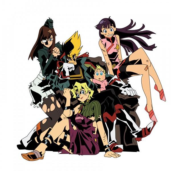 Tags: Anime, Imaishi Hiroyuki, Gainax, Tengen Toppa Gurren-Lagann, Kinon Bachika, Kiyoh Bachika, Kittan Bachika, Kiyal Bachika, Anne (Tengen Toppa Gurren-Lagann), Official Art