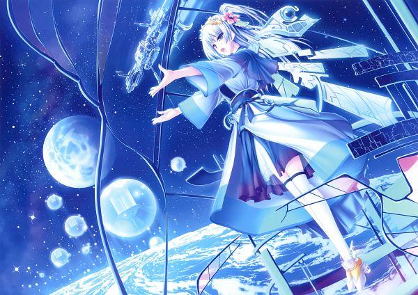 Tags: Anime, Tenmaso, Eshi 100-Nin Ten 02, Sci Fi, Futuristic Theme, Mecha Musume, Spaceship, Scan, Original