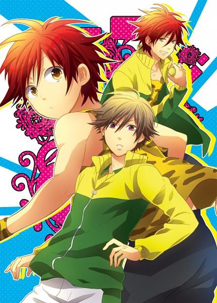 Tags: Anime, Morino Mizu, Tennis no Ouji-sama, Oshitari Kenya, Tooyama Kintarou, Shiraishi Kuranosuke, Tennis Ball, Shitenhoji Uniform, Fanart, Pixiv, Shitenhoji, Prince Of Tennis