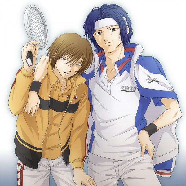 Tags: Anime, Wakakura, Tennis no Ouji-sama, Yukimura Seiichi, Fuji Shuusuke, Rikkaidai Uniform, Seigaku Uniform (Cosplay), Seigaku Uniform, Tennis, Rikkaidai Uniform (Cosplay), Pixiv, Fanart, Rikkaidai, Prince Of Tennis