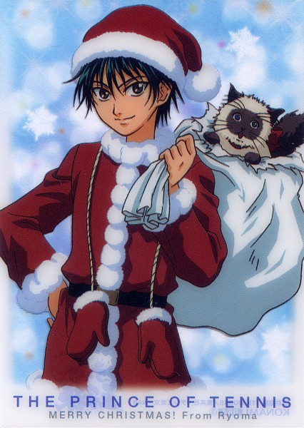 Tags: Anime, Tennis no Ouji-sama, Karupin, Echizen Ryoma, Mobile Wallpaper, Official Art, Seigaku, Prince Of Tennis