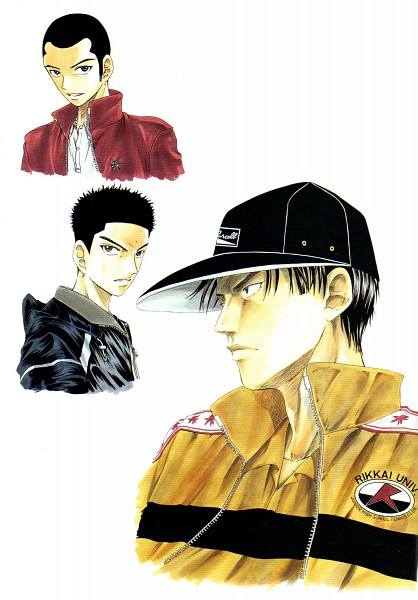 Tags: Anime, Konomi Takeshi, Tennis no Ouji-sama, The Prince Of Tennis Illustrations, Sanada Genichiroh, Aoi Kentarou, Tachibana Kippei, Rikkaidai Uniform, Official Art, Fudomine, Rokkaku, Rikkaidai, Prince Of Tennis