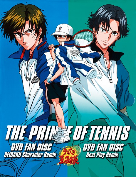 Tags: Anime, Tennis no Ouji-sama, Atobe Keigo, Tezuka Kunimitsu, Echizen Ryoma, Hyotei Uniform, Seigaku Uniform, Tennis Racket, Official Art, Seigaku, Hyotei Academy, Prince Of Tennis