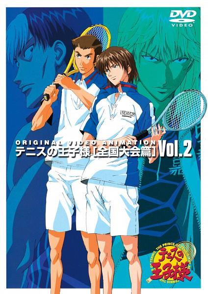 Tags: Anime, Tennis no Ouji-sama, Kawamura Takashi, Fuji Shuusuke, Hirakoba Rin, Chinen Hiroshi, Higa Uniform, Seigaku Uniform, Tennis Racket, Scan, DVD (Source), Official Art, Higa, Prince Of Tennis