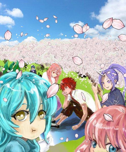 Tags: Anime, Pixiv Id 13876577, Tensei Shitara Slime Datta Ken, Shuna (Tensei Shitara Slime Datta Ken), Benimaru, Veldora (Tensei Shitara Slime Datta Ken), Rimuru Tempest, Souei, That Time I Got Reincarnated As A Slime
