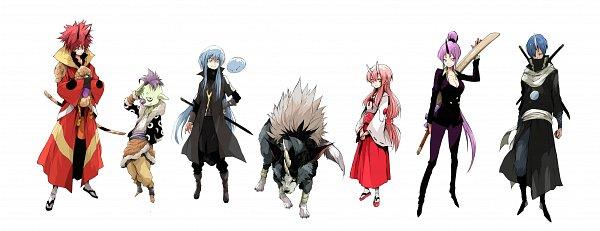 Tags: Anime, Pixiv Id 40439, Tensei Shitara Slime Datta Ken, Rimuru Tempest (Slime), Shion (Tensei Shitara Slime Datta Ken), Rimuru Tempest, Shuna (Tensei Shitara Slime Datta Ken), Benimaru, Gobuta, Ranga (Tensei Shitara Slime Datta Ken), Souei, Slime, Kirin (Creature), That Time I Got Reincarnated As A Slime