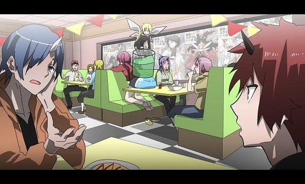 Tags: Anime, Pixiv Id 8712846, Tensei Shitara Slime Datta Ken, Shuna (Tensei Shitara Slime Datta Ken), Benimaru, Ramiris, Milim Nava, Souei, Rimuru Tempest (Slime), Shion (Tensei Shitara Slime Datta Ken), Rimuru Tempest, Slime, That Time I Got Reincarnated As A Slime